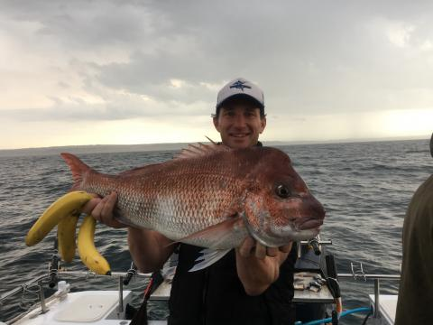 SIMON RINALDI SNAPPER FISHING PORT PHILLIP BAY MELBOURNE